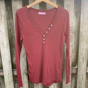 NWOT/ Michael Stars Henley Long Sleeve T-shirt